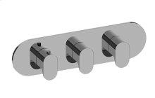 Ametis M-Series Valve Horizontal Trim with Three Handles