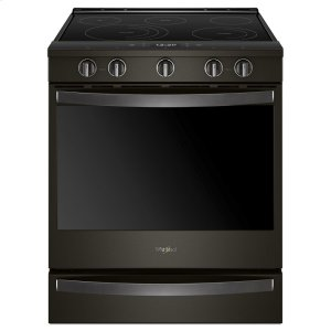 6.4 cu. ft. Smart Slide-in Electric Range with Scan-to-Cook Technology - FINGERPRINT RESISTANT BLACK STAINLESS