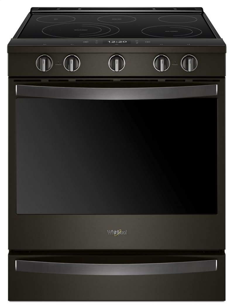 Wee750h0hv in fingerprint resistant black stainless by whirlpool in ft smart slide in electric range with frozen bake technology fandeluxe Gallery