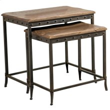 Trenton 2Pc Nesting Tables in Distressed Pine
