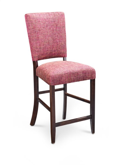 "Karrige Stationary Barstool, Karrige Stationary Barstool, 24""h, Fabric Seat and Back"