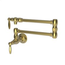 Satin Gold - PVD Pot Filler - Wall Mount