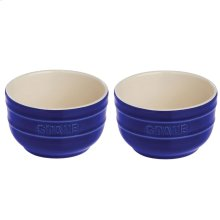 Staub Ceramics 2-pc Prep Bowl Set, Dark Blue