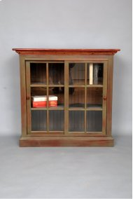 "#423 Sliding Door Bookcase38.5""wx16dx37.5:h"