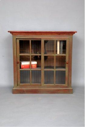 """#423 Sliding Door Bookcase38.5""""wx16dx37.5:h"""