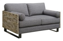 Loveseat W/2 Bolster Pillows-charcoal Blue#k2080-8/sandstone Finish
