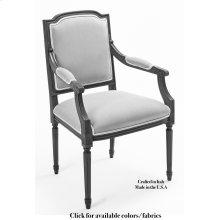 Louis Xvi Sq Arm Chair Frame,Leather
