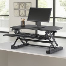 Sit To Stand Desktop Riser - Black