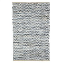 Denim Chevron Chindi 4'x6' Rug (Each One Will Vary).