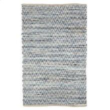 Denim Chevron Chindi 4'x6' Rug (Each One Will Vary).