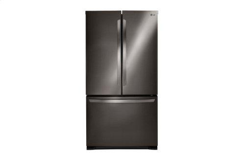 LG Black Stainless Steel Series 25 cu.ft. Mega Capacity 3-Door French Door Refrigerator