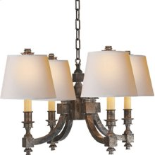 Visual Comfort MS5020SN-NP Michael S Smith Eiffel 4 Light 22 inch Sheffield Nickel Chandelier Ceiling Light