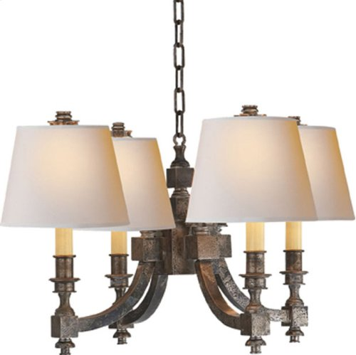 Visual Comfort MS5020SN-NP Michael S Smith Eiffel 4 Light 22 inch Sheffield Nickel Chandelier Ceiling Light