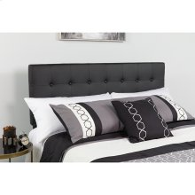 Lennox Tufted Upholstered King Size Headboard in Black Vinyl