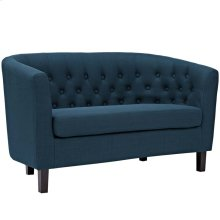 Prospect Upholstered Fabric Loveseat in Azure