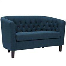 Prospect Upholstered Fabric Loveseat in Azure