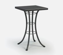 """24"""" Square Bar Table Ht: 40"""" Classic Steel Base (Model # Includes Both Top & Base)"""