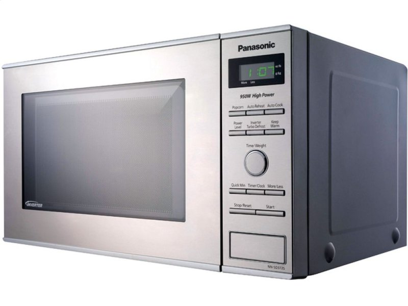 Ft Small Compact Countertop Microwave Oven With Inverter Technology Stainless
