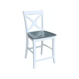 JOHN THOMAS FURNITURESalerno Stool in Heather Gray & White