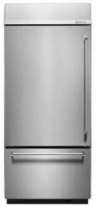 "20.9 Cu. Ft. 36"" Width Built-In Stainless Bottom Mount Refrigerator with Platinum Interior Design - Stainless Steel Product Image"