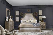 Arch Salvage Queen Bryce Upholstered Bedroom Set: Queen Bed, Nightstand, Dresser & Mirror