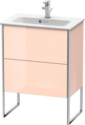 Vanity Unit Floorstanding Compact, Apricot Pearl High Gloss Lacquer