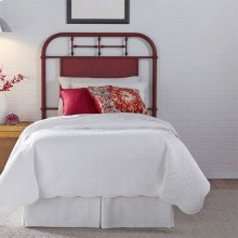 Twin Metal Headboard - Red
