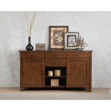 DLU-BR-SB-AM  Sideboard Server Amish Brown