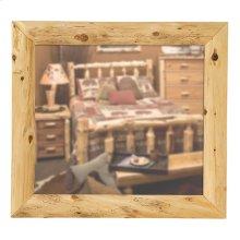 """Mitered Mirror Frame - 36"""" x 36"""" - Natural Cedar"""