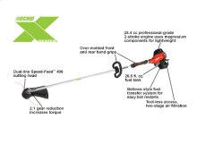 SRM-2620T Gas High Torque String Trimmer ECHO X Series