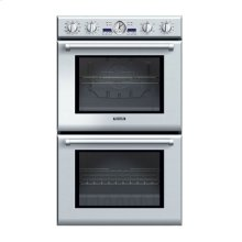 "30"" PROFESSIONAL SERIES DELUXE STAINLESS STEEL DOUBLE OVEN WITH ELECTRONIC DISPLAY AND TRUE CONVECTION"