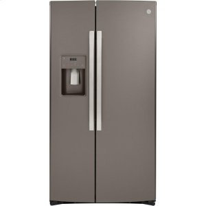 GE® 25.1 Cu. Ft. Side-By-Side Refrigerator - SLATE