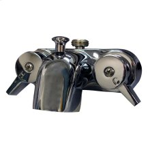 """Clawfoot Tub Filler - Diverter Bathcock Spout 1/2"""" Connection - Polished Chrome"""