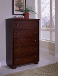 Drawer Chest - Espresso Pine Finish Product Image