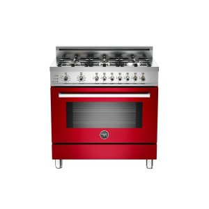 36 6-Burner, Electric Self-Clean Oven Red - Red