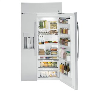 "GE ProfileSeries 48"" Built-In Side-by-Side Refrigerator with Dispenser"