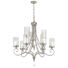 Lara Collection Lara 9 Light Chandelier - Classic Pewter