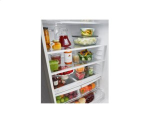 """Large Capacity Bottom Freezer Refrigerator with Ice Maker (Fits a 33"""" Opening)"""