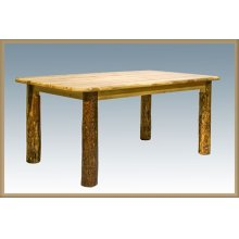Glacier Country Log 4 Post Dining Table