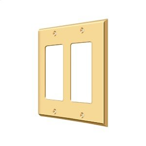 Switch Plate, Double Rocker - PVD Polished Brass Product Image