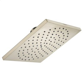 Brushed Nickel Showerhead 180 Square 1-Jet, 2.5 GPM