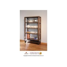 "70"" Bookcase with 4 shelves & Casters"