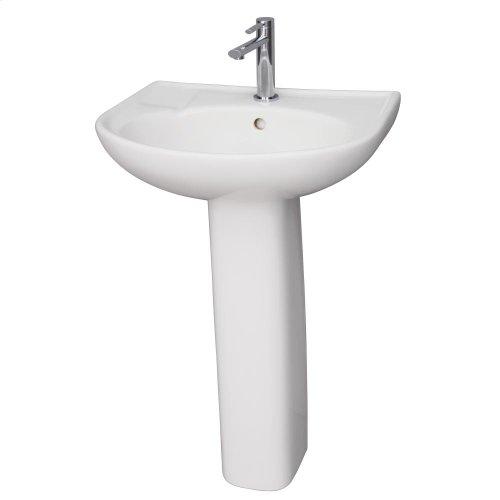 Cynthia 570 Pedestal Lavatory - White