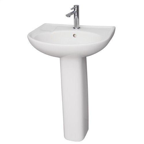 Cynthia 520 Pedestal Lavatory - White