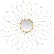 Flower Mirror - Gold