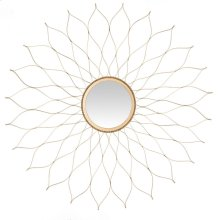 Flower Mirror - Gold