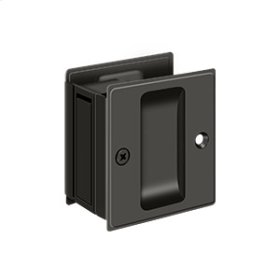 "Pocket Lock, 2 1/2""x 2 3/4"" Passage - Oil-rubbed Bronze"