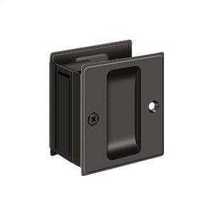 "Pocket Lock, 2 1/2""x 2 3/4"" Passage - Oil-rubbed Bronze"