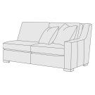 Germain Right Arm Loveseat in Mocha (751) Product Image