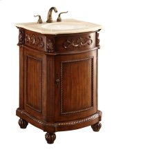 24 in. Single Bathroom Vanity set in Brown